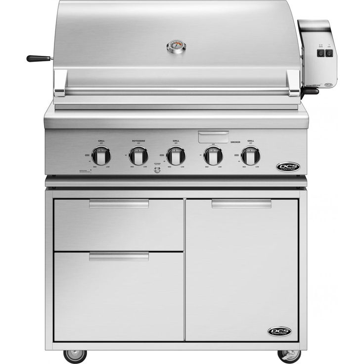 DCS Professional 36-Inch Propane Gas Grill With Rotisserie On DCS CAD Cart - BH1-36R-L available at ShoppersChoice.com. DCS grills are...