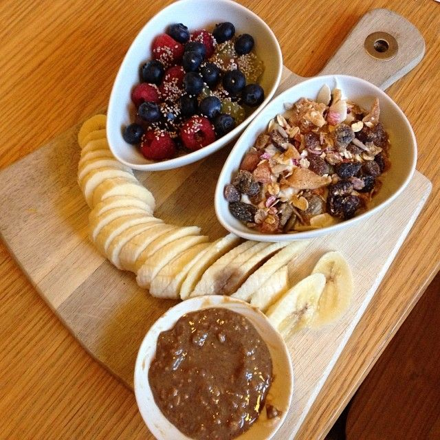 No filter on my pre race breakfast! One bowl of pro biotic yoghurt with organic muesli One bowl of fresh fruit topped with chia seeds One large banana with 35g organic crunchy peanut butter! Fuelling my body with nutrients! #abs #athlete #edsoldier #fitness #food #fuel #foodporn #fitspo #raw #organic #nutrition #fresh #healthy #wholefoods #recovery #health #fit #workout #breakfast #body #diet #protein #motivation #muscle #questbar #sport #holiday #strong #edrecovery