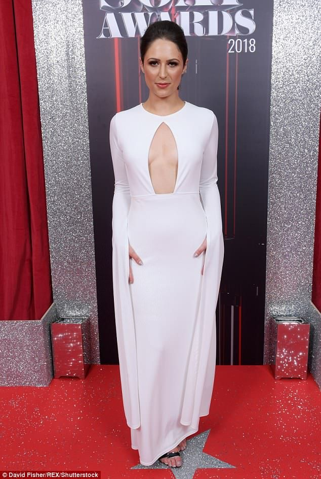 a31a738769c British Soap Awards 2018  Nicola Thorp stunned as she showed off her  cleavage in an elegant white gown at the star-studded awards on Saturday  night