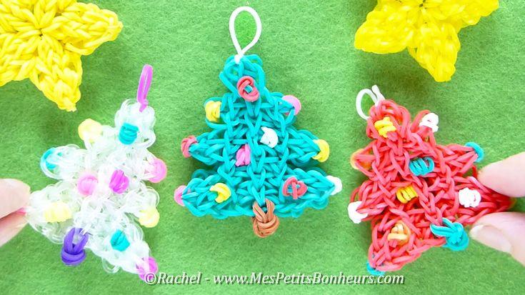 Tuto Sapins de Noël Rainbow Loom - Décoration en élastiques