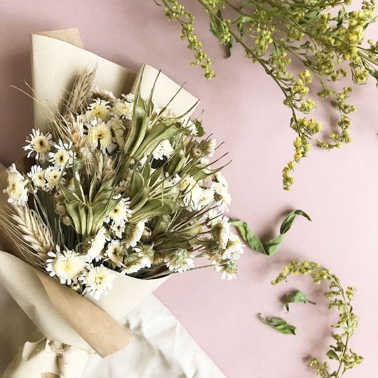 Летний букет из сухоцветов- Dried bouquet. Dried flowers