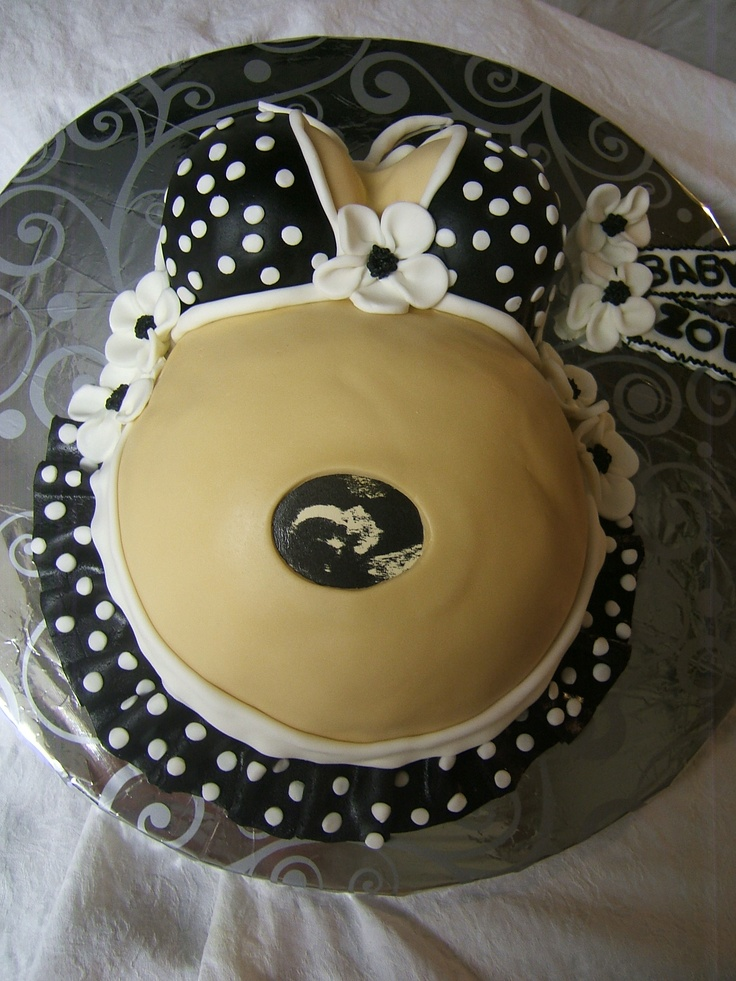 Baby Shower Belly Cakes Baby belly cake with