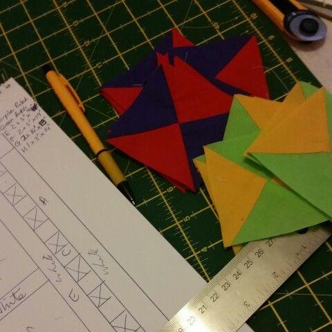 Quilt prep: hourglass block