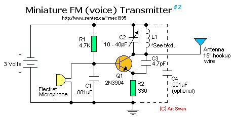 Miniature FM Voice Transmitter