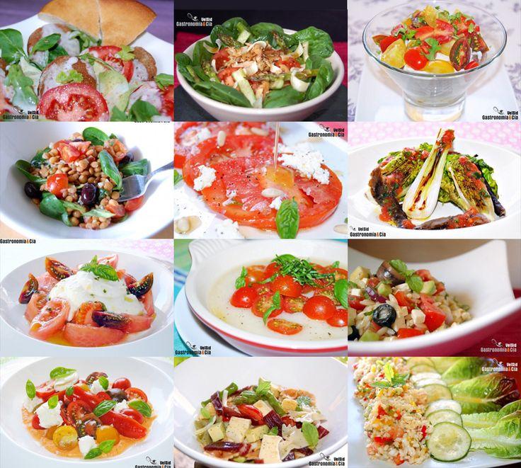 Doce recetas de ensalada con tomate