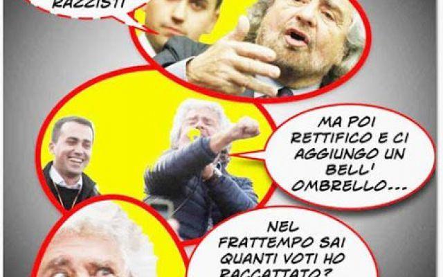 """Ci vogliono tante qualità per ottenere fducia, ma a volte basta un trucco da magliaro """"mastro"""" Silvio é stato un genio delle tre carte nell'incantare l'elettorato, ma adesso che é stato smagato boccheggia nelle retrovie, come é giusto che sia.  Chi non riesce ad evadere dalle retrov #politica #satira #vignette #umorismo"""