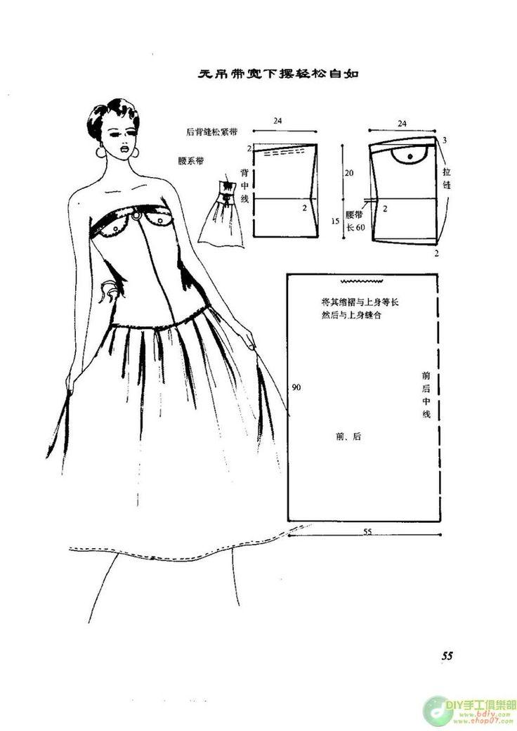 连衣裙裁剪图_自己动手做连衣裙 --- 裁剪图 (1) - 紫苏 - 紫苏的博客 - Jurken