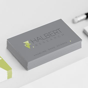 Business Card design for Halbert Research  www.akgraphics.ie