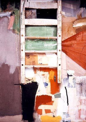"Robert Rauschenberg's ""Octave,"" a painting/mixed media work from 1960, is in Seattle Art Museum's collection."