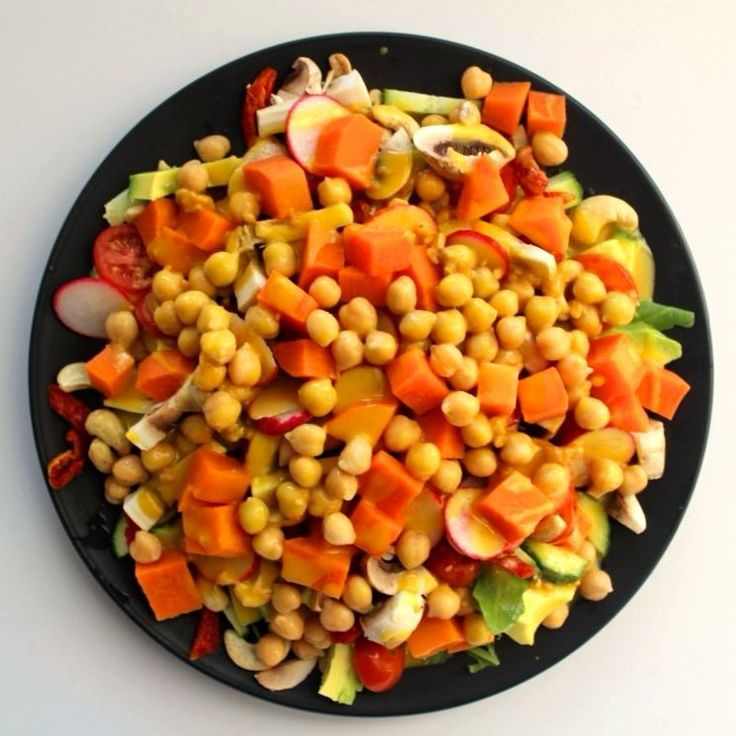"""The kids and I have been making """"anything goes"""" salads every day this week for lunch.  This was one of my favourites."""