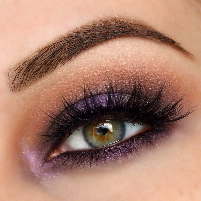 Well one of my eyes is doing much better! So I was able to play on this side   Purple smokey eye! I used a handful of random colors, but the main colors are Mac Beauty Marked and Parfait AmourUrban Decay 24/7 liner in Empire to line around the eyes  @houseoflashes Iconic lashes