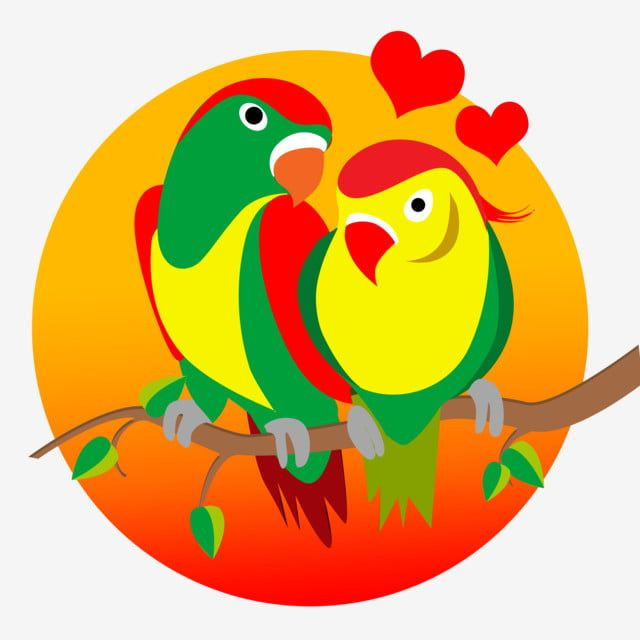 Love Birds Love Birds Green Png Transparent Clipart Image And Psd File For Free Download In 2021 Clip Art Love Birds Love Illustration
