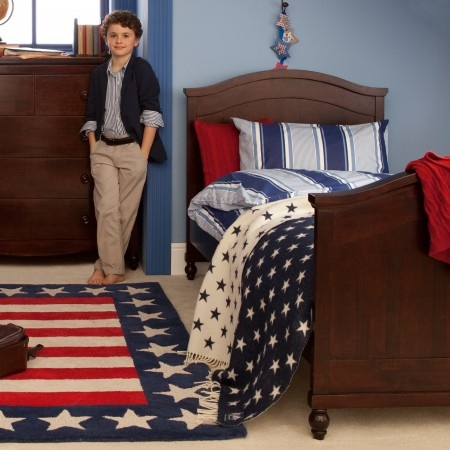 The Heritage Traditional Bed is made from sustainable wood and a great addition to any boys room.
