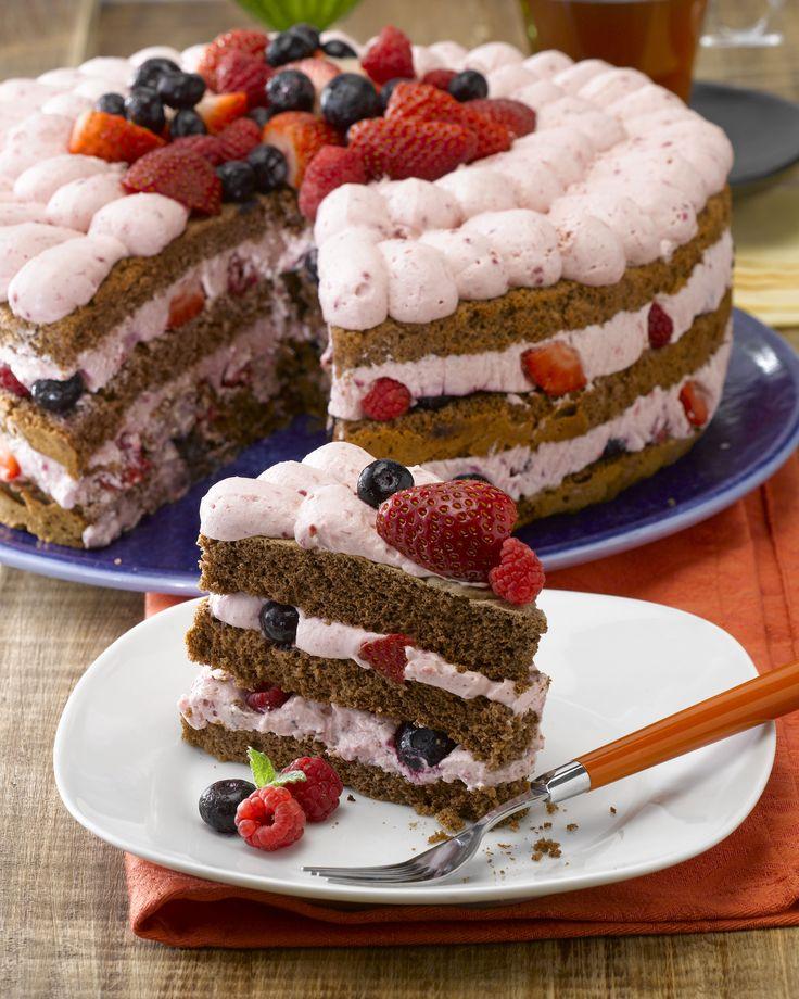 ¿Conoces esta Torta Berries sin azúcar? Pruébala ahora, es súper fácil de preparar y una delicia para disfrutar.