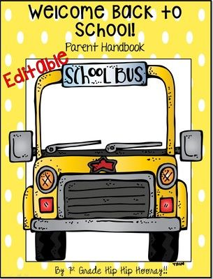 FREE Back to School...Parent Handbook from 1st Grade Hip Hip Hooray on TeachersNotebook.com -  (25 pages)  - Book to inform parents of classroom routines and rules.  EDITABLE