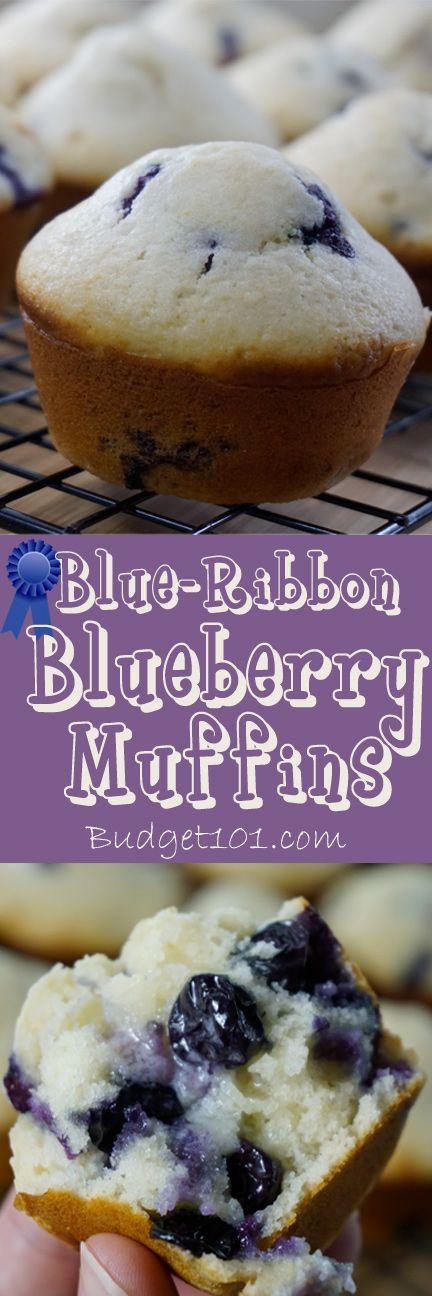 Blueberry Muffins- Blue Ribbon Award Winning Family recipe