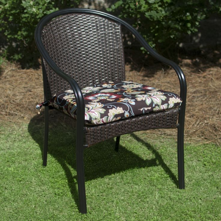 Plantation Patterns Hampton Bay Burkester Stripe Outdoor Chair Cushion  Available At The Home Depot.