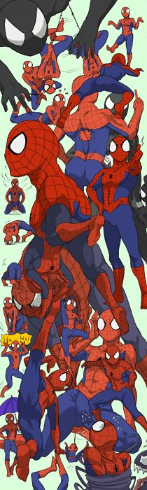 SPIDERMAN! Find black Spidey! Oh.. urgh....he's right there. Find yellow Spidey...