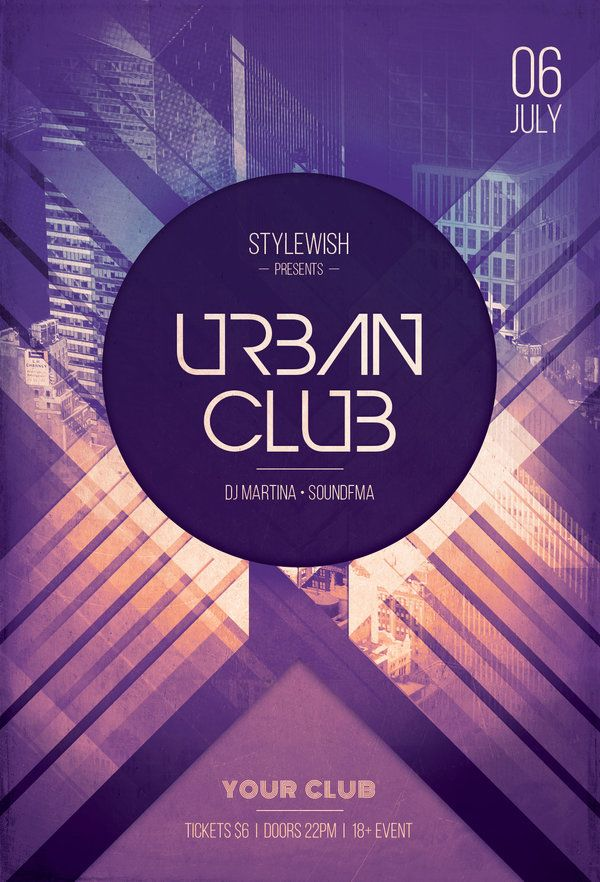 Urban Club Flyer by styleWish (Download PSD template)