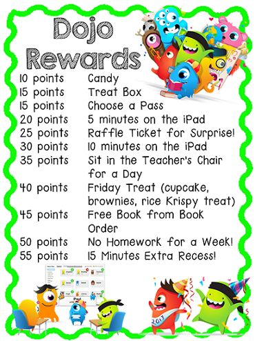 Class dojo reward coupons