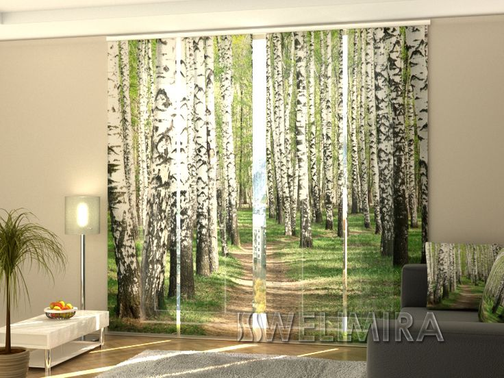 Set of 4 Panel Curtains Birch Forest  #Wellmira #ModernCurtains #PanelCurtains #Curtains #JapaneseCurtains #Fotogardine #Schiebevorhang #Flächenvorhang #Schiebegardine #Birch #Trees #Forest https://wellmira.com/collections/sets-of-4-panel-curtains/products/set-of-4-panel-curtains-birch-forest?variant=25545413383