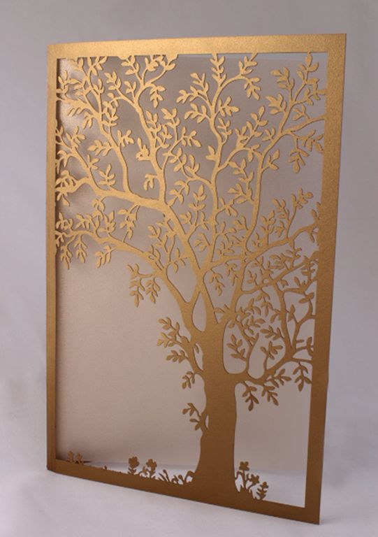 Make your wedding invites stand out with some creative laser cut card.