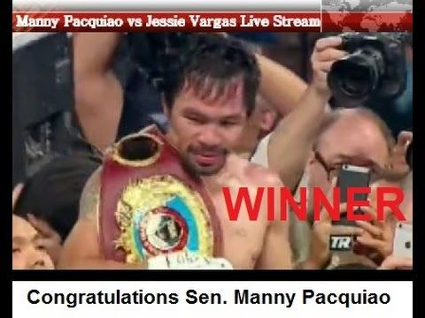 Manny Pacquiao vs Jessie Vargas Live Stream Full Fight