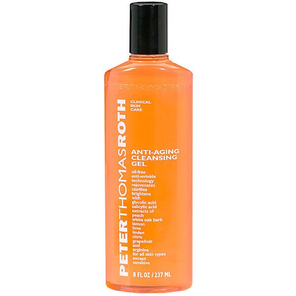 Peter Thomas Roth Anti-Aging Cleansing Gel for All Skin Types Except... ($38) ❤ liked on Polyvore featuring beauty products, skincare, face care, face cleansers, fillers, beauty, orange fillers, sensitive skin face wash, anti aging face wash and antibacterial face wash