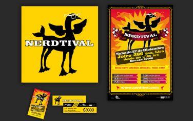 diseño para festival nerd nerdtival