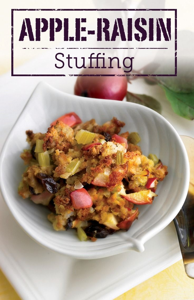 Try this exquisite Apple-Raisin Stuffing recipe that balances sweet ...