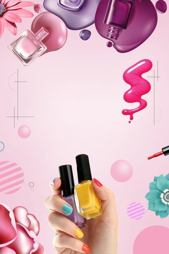 Nail Nail Polish Creative Posters Nail Salon Design Trendy Nail Design Nail Salon Decor