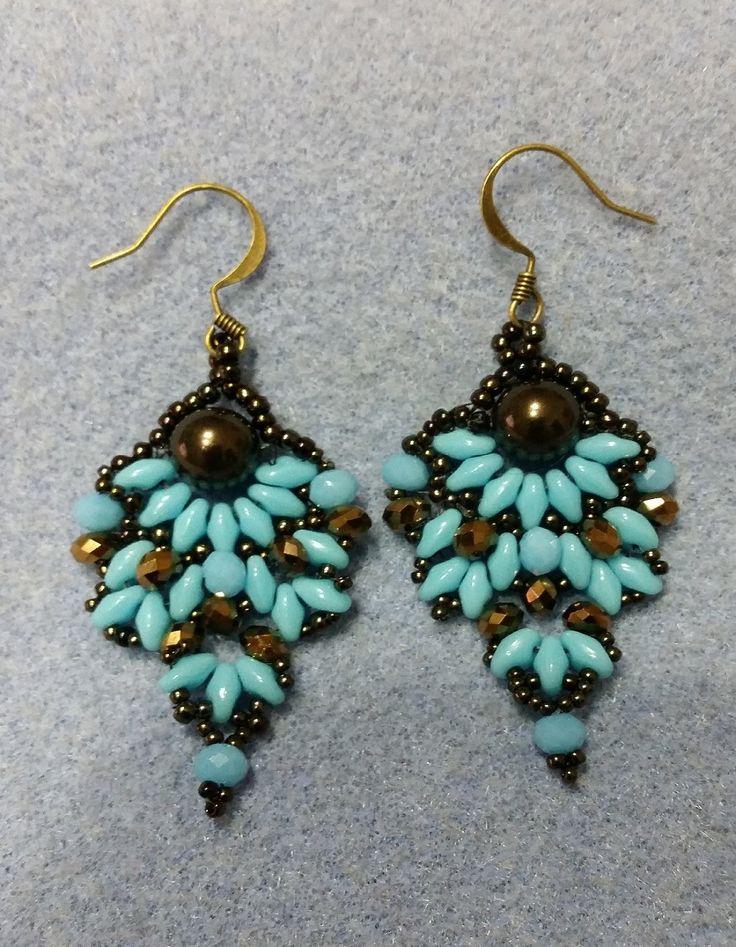 DIY Tutorial Orecchini perline superduo - bead earrings