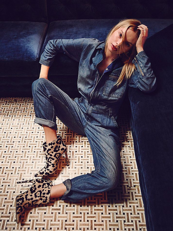 Free People Lost in Time Chambray One Piece at Free People Clothing Boutique