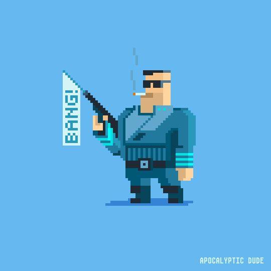 mazeon : pixel art — The Intergalactic B-Team Members are: Apocalyptic...