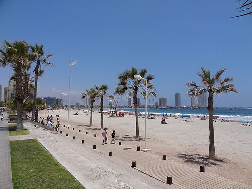 Cavancha Beach, Iquique, Chile.