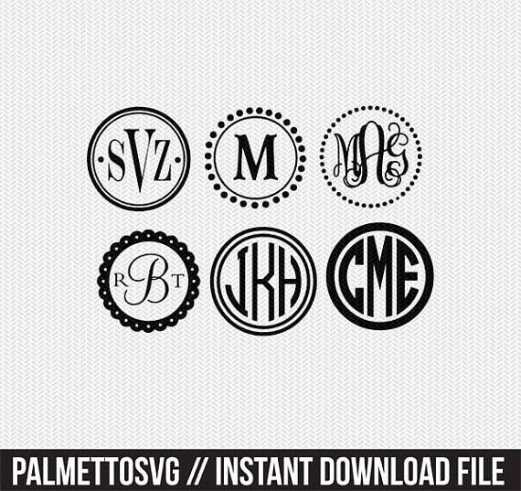 circle monogram frame Svg, Cricut Cut Files, Silhouette Cut Files  This listing is for an INSTANT DOWNLOAD. You can easily create your own projects. Can be used with the silhouette cutting machines or other machines that accept SVG.  FONTS INCLUDED Circle monogram scalloped circle monogram vine monogram vine monogram II master circle monogram heart monogram curlz monogram fishtail monogram diamond monogram chevron letters chevron numbers  It includes 1 zip folders  1. svg, dxf and pdf files…