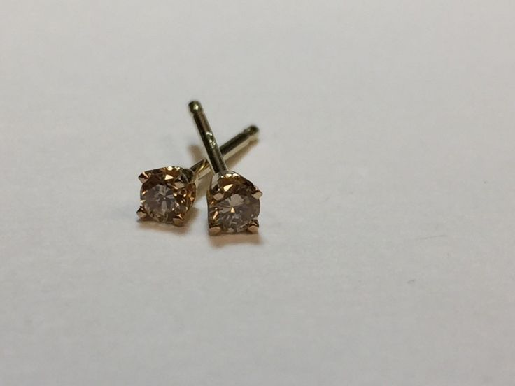 Awesome Amazing DIAMOND EARRING SALE!! 1/12 CTW 14K YELLOW GOLD 4 PRONG POST EARRINGS 2018