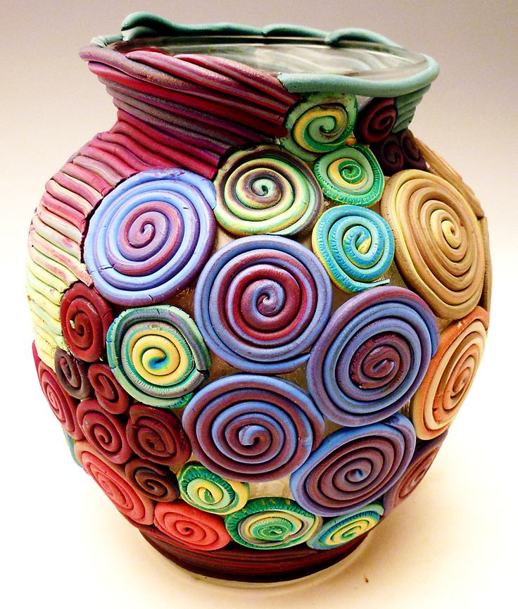 beautiful polymer clay vase