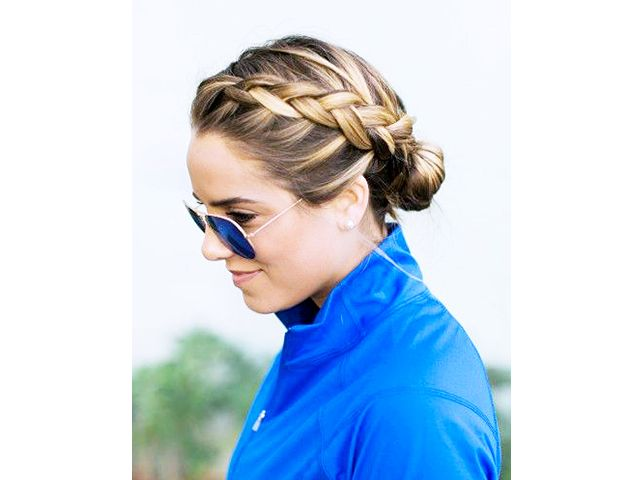 7 Stay-Put Hairstyles For Your Sweatiest Workouts via @ByrdieBeautyUK