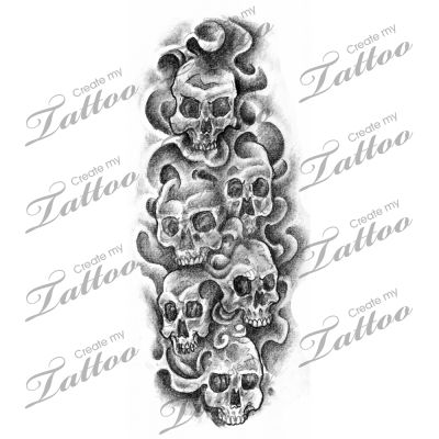 Smoke and Skulls tattoo design | Horror Tattoo Designs ...