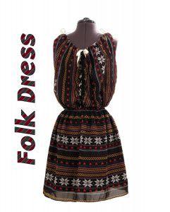 Rochie de inspiratie hippie, rochie din voal scurta si incretita - rochie scurta voal imprimat, rochie din voal imprimat, rochie voal negru