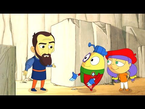 Art with Mati and Dada – Leonardo Da Vinci | Kids Animated Short Stories in English - YouTube. Short Episodes with tons of different artists.