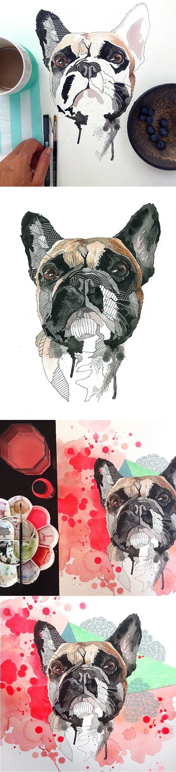 Illustrations and portraits on commission. Bestil dit eget billede, helt som du vil have det. Line Holtegaard