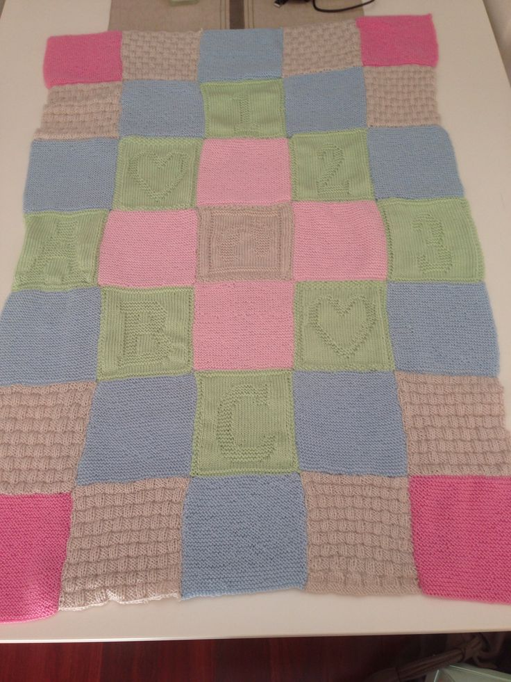 Knitted baby blanket for my adorable new baby cousin :)