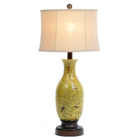 moss green table lamp