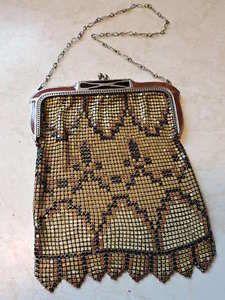 Art Deco Metal Whiting & Davis Mesh Hand Bag Purse