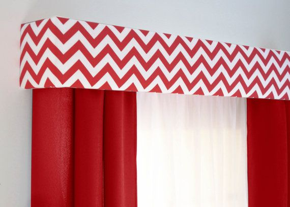 Red Chevron Cornice Board Valance Window By DesignerHeadboards, $74.00 |  Kitchens | Pinterest | Cornice Boards, Valance And Window