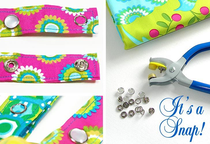 How to Apply Metal Snaps to Fabric - everything you need to know about using snaps. From sew4home.com #sewing #tutorials