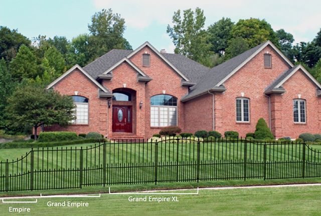 The Empire Fence Style Comes In 3 Sizes Empire Grand Empire And Grand Empire Xl Which Style Is Your Favorite Metal Fence Panels Fence Styles Fence Panels