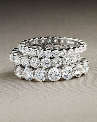 infinity band. platinum petite prong diamond eternity bands by memoire at neiman marcus. infinity band